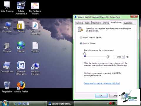 How to Use Windows Vista ReadyBoost