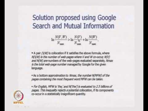 Mod-01 Lec-26 NLP and IR: How NLP has used IR, Toward Latent Semantic