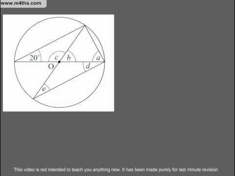 (Q218) A Star GCSE Revision Questions More Circle Theorem