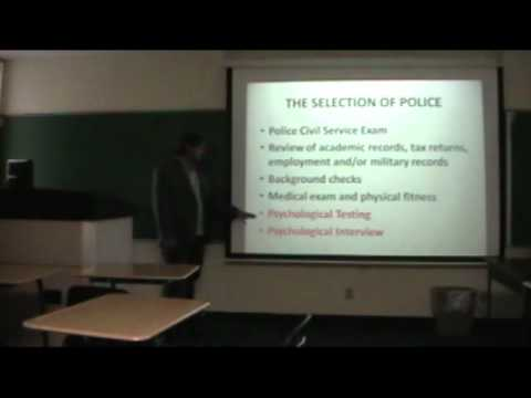 Eric Silk Psychology and Law Enforcement Lecture Part 1