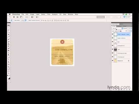 How to create a watermark in Photoshop | lynda.com tutorial