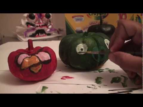 Popular Craft Projects - 005: Angry Birds Halloween Pumpkin Style - TCGames [HD]