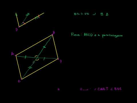 Proof - Diagonals of a Parallelogram Bisect Each Other