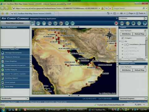 Air Combat Command, Geospatial Viewing App