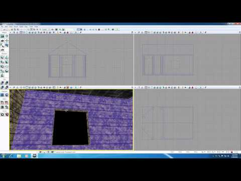 Unreal Development Kit UDK Tutorial - 19 - Fixing Our Walls and Roof