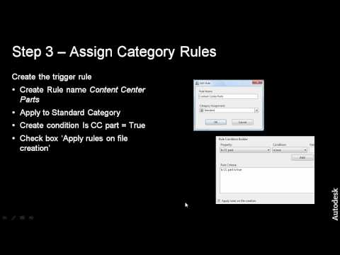 Step 3 Define Content Center Category Assignment Rules