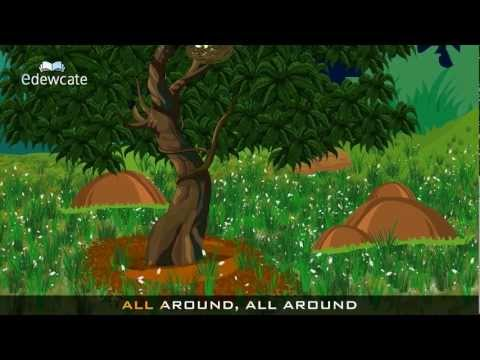 Edewcate english rhymes - The green grass grows all around nursery rhyme