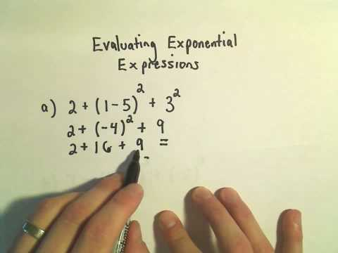 Evaluating Exponential Expressions (Numbers Only, No Variables) - Ex 2