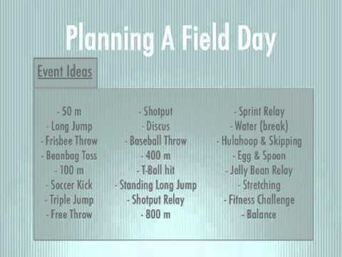 P.E. Games - Planning A Field Day