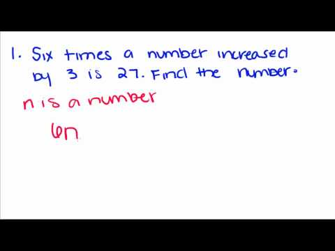 Algebra Tutorial - 9 - Solving Word Problems with Equations