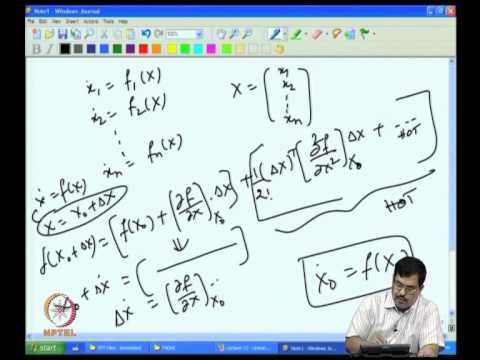 Mod-07 Lec-16 Linearization of Nonlinear Systems