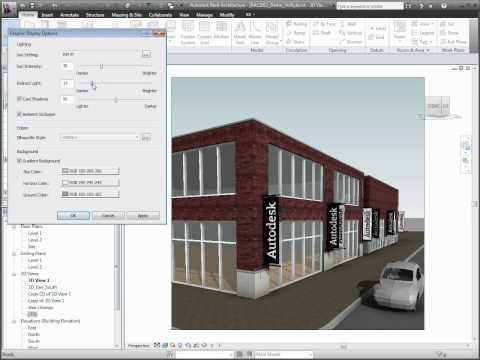 Autodesk Revit Architecture 2011 Visual Styles & Rendering