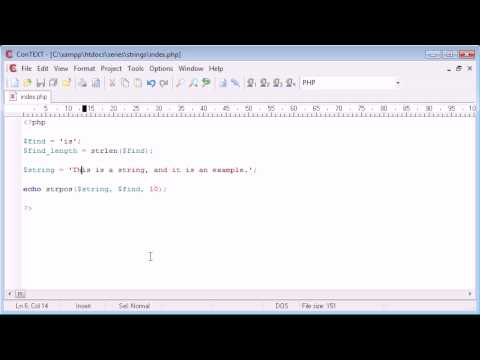 Beginner PHP Tutorial - 48 - String Functions: String Position Part 1