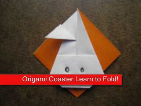 How to Fold Origami Rabbit Coaster - OrigamiInstruction.com