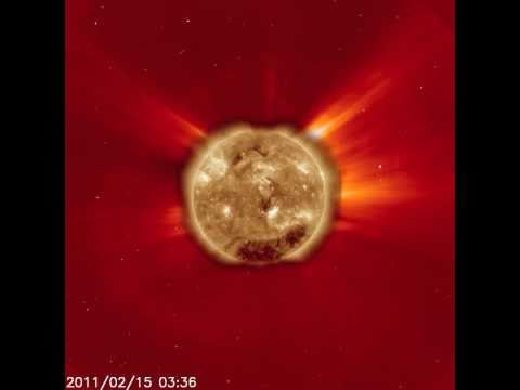 Largest Solar Flare in 4 yrs, Feb 16 2011