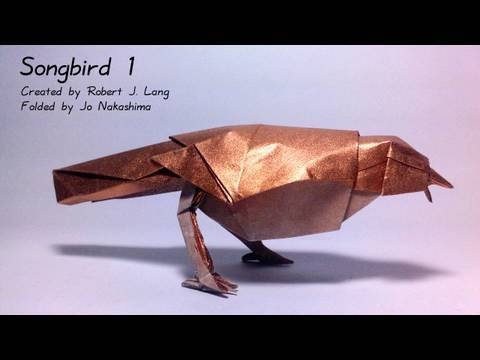 Origami Songbird 1 (Robert J. Lang) - not a tutorial