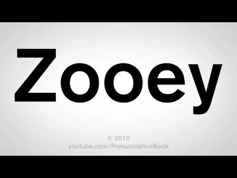 How To Pronounce Zooey