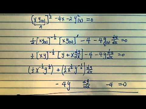 How to Find Derivative dy/dx using IMPLICIT DIFFERENTIATION??!?