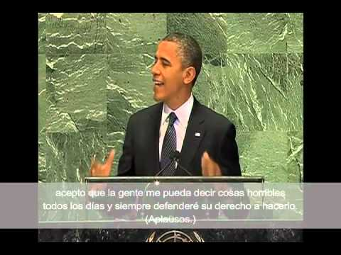 Obama Address at U.N. : Protect Free Speech with Spanish Subtitles