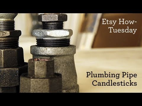 How-Tuesday: Plumbing Pipe Candlesticks