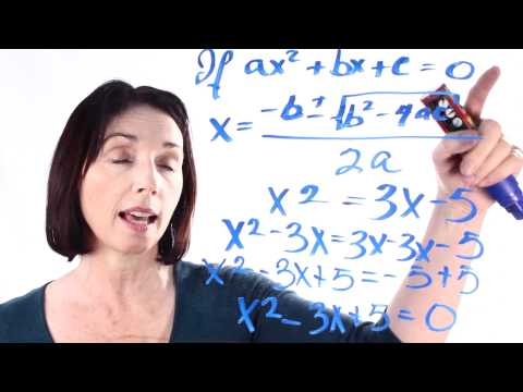 Learn the Quadratic Formula: Satisfying Conditions
