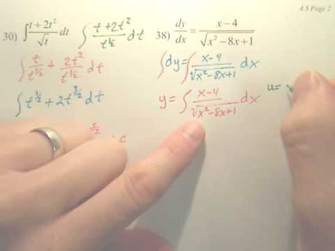 4.5b Integration by Substitution - Calculus