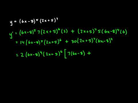Calculus 3.07g - Product Rule Examples