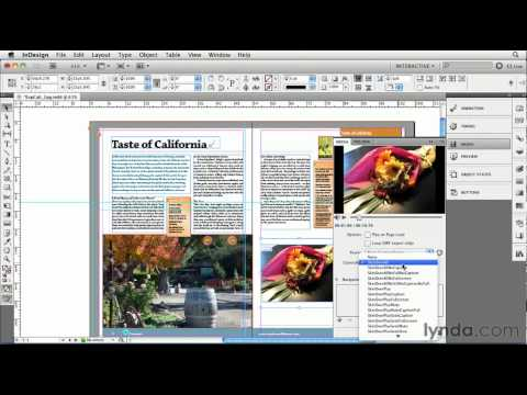 Exploring the InDesign interactive features | lynda.com tutorial