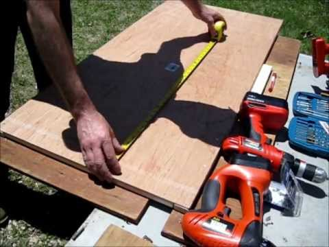 How to make solar panels - making the frame in 15 minutes