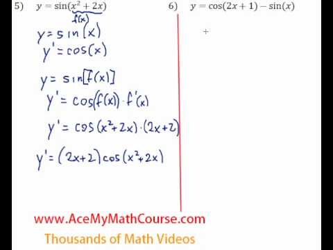 Derivatives of Trigonometric Functions - Questions #5-6