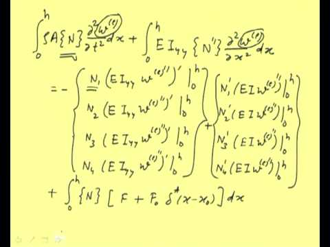 Mod-11 Lec-2 Finite Element Formulation for Beams: Galerkin's Method