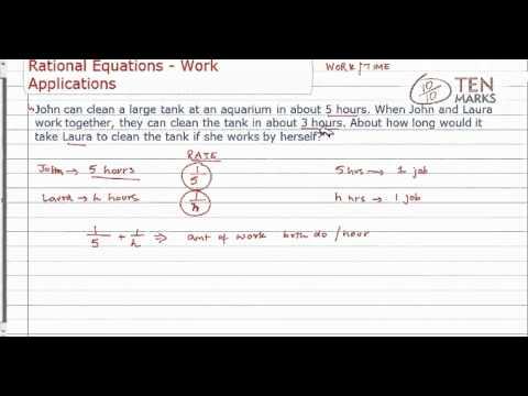 Rational equation - work Application