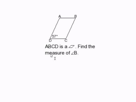 Find a Missing Angle in a Parallelogram II