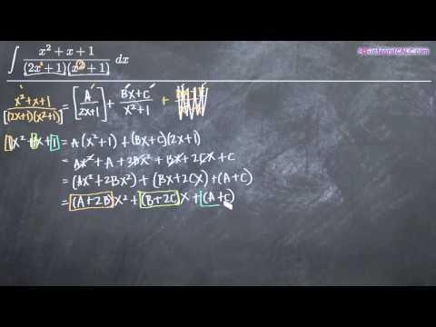 Partial Fractions -- Distinct Quadratic Factors 1