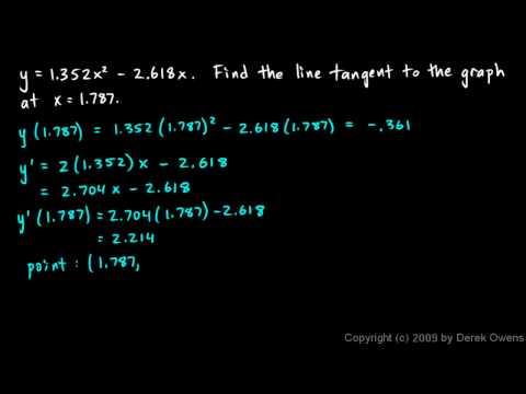 Calculus 3.05b - Tangent Lines