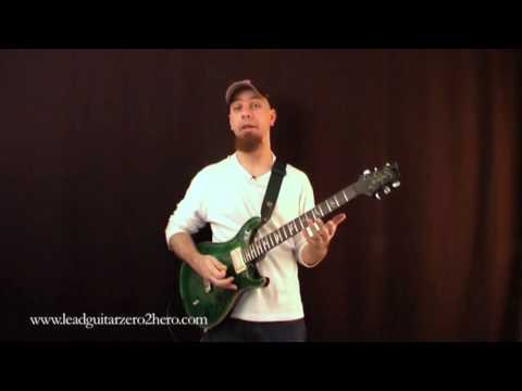 "09 Learn Electric Guitar ""Hammer Ons & Am Pentatonic Scale"" - Rock Guitar Lesson"