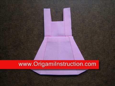 How to Fold Origami Skirt - OrigamiInstruction.com