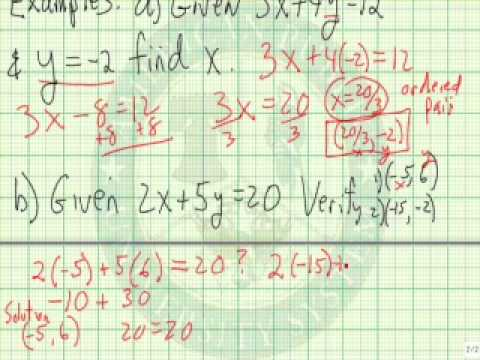 Find Solution for Equation with 2 Variables