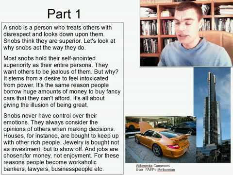 Advanced Listening English Practice 12: Why are people snobs?