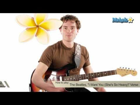 How to Play I Want You (She's So Heavy) by The Beatles on Guitar