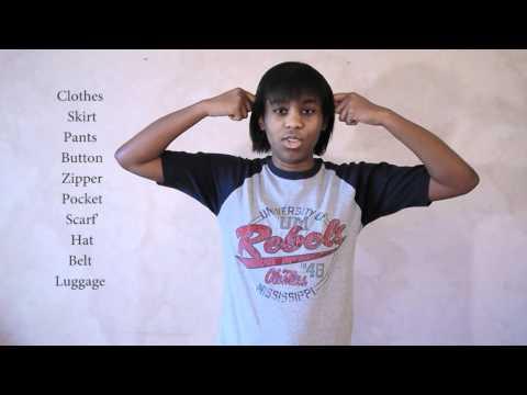 Sign Language 101: Clothes (Part One)