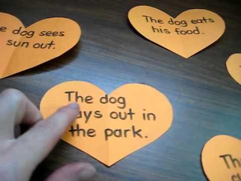 Valentine.Sequencing stories