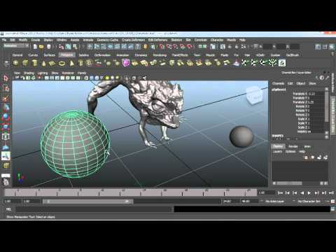 How to model an eyeball in Maya | lynda.com tutorial