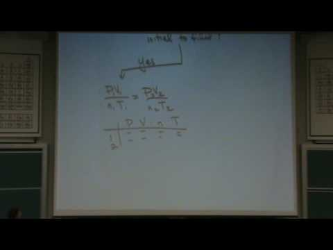 Solving Gas Law Problems