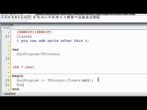 Free Pascal Program Tutorial 28 - Running External Programs - IE Batch MS Paint Calculator - Lazarus