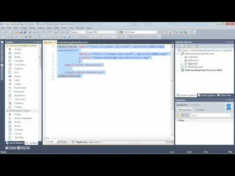 Understanding Silverlight project structure in Visual Studio | lynda.com tutorial