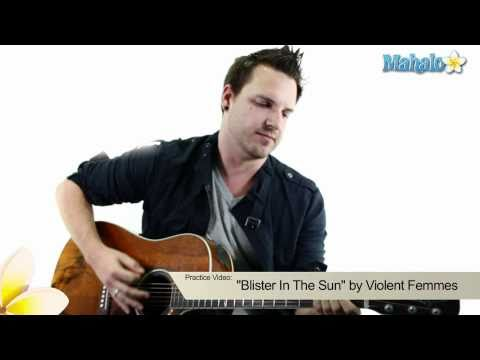 "How to Play ""Blister In The Sun"" by Violent Femmes on Guitar (Practice Video)"