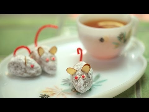 White Chocolate Ginger Mice Truffles: How to Make || KIN EATS