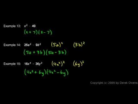 Algebra Review 4.8 - Factoring