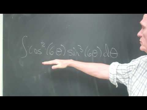 integral of cos^2 (6 theta) sin^3(6 theta)